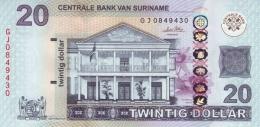 SURINAME 20 DOLLARS 2010 P-164a UNC [SR547a] - Surinam