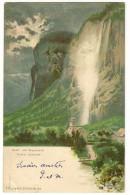 """S5265 - Suisse - Nacht Am Staubbach- F. Killinger Zurich N°124 """"1898"""" """"Surréalisme"""" - Illustratori & Fotografie"""
