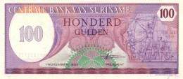 SURINAME 100 GULDEN 1985 P-128b UNC  [SR514b] - Surinam