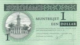 SURINAME 1 DOLLAR 2004 P-155a UNC  [SR155a] - Surinam