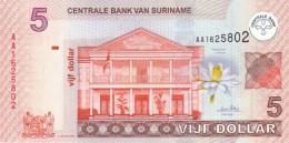SURINAME 5 DOLLARS 2004 P-157a UNC [SR540a] - Surinam