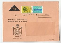 1966 LIECHTENSTEIN Nachnahme COVER Stamps Fish Etc - Liechtenstein
