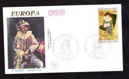 ENVELOPPE PREMIER JOUR - EUROPA - 25 AVRIL 1975 - P. PICASSO - FDC