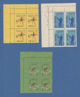 Persien / Iran 1960 Kampf Gegen Die Malaria Mi.-Nr. 1077-79 ER-Viererblocks ** - Iran