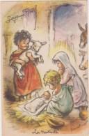 Illustrateur  G. Bouret ( Pas Reproduction)Joyeux Noël   La Nativité  Enfants , Agneau , Ane , Boeuf - Ohne Zuordnung