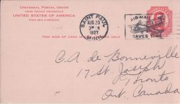 USA, Entier Postal, Saint Paul Minn. - Toronto Canada (20.8.1927)