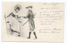 2262 Carte Postale Jessie Walking Marquis Cachet Gare De Rennes Mouchon Mauvais Centrage A Cheval Pour Morgat Astafort - Illustrateurs & Photographes