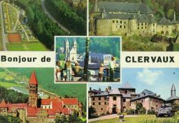 LUSSEMBURGO - LUXEMBOURG - 19?? - 5F + Flamme Clervaux Centre Des Ardennes - Bonjour De Clervaux - Multivues - Viaggi... - Clervaux