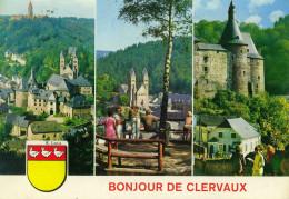 LUSSEMBURGO - LUXEMBOURG - 1978 - 5F Esch-sur-Sûre + Flamme Entente Europeenne - Clervaux - Bonjour De Clervaux - Mul... - Clervaux