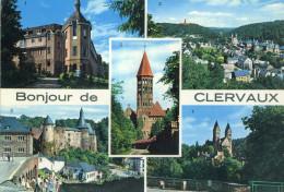 LUSSEMBURGO - LUXEMBOURG - 1967 - 1,50F + Flamme Clervaux Centre Des Ardennes - Bonjour De Clervaux - Multivues - Via... - Clervaux