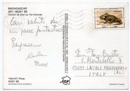 MADAGASCAR - NOSY BE COUCHER DE SOLEIL SUR L'ILE PARFUMEE / THEMATIC STAMP-PREHISTORIC ANIMALS - Madagascar
