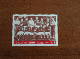 AJMAN  1968 Football Soccer World Cup 1966 Team Of England 1v.perf. - World Cup