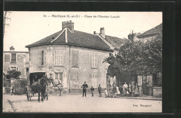 CPA Marines, Place De L'ancien Lavoir, Attelage à Cheval, Reiter Zu Chevaux - Marines