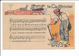 Le Cantonnier Chanson Sur La Route De Louviers Dessin ( Au Dos Publicité Chicorée à La Crémière Jh Lervilles à Bouchain - Louviers