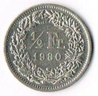 Switzerland 1980 ½ Franc - Switzerland
