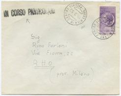 1955 REDDITI L. 25 ISOLATO BUSTA 15.3.55 DA MILANO IN CORSO PARTICOLARE SPLENDIDA QUALITÀ (A825) - 1946-60: Storia Postale