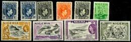 Nigeria 10 Timbres Neufs** - Nigeria (...-1960)