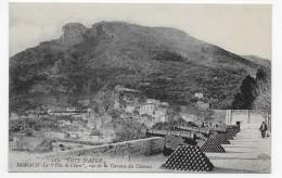 MONACO - N° 182 - LA TETE DE CHIEN - VUE DE LA TERRASSE DU CHATEAU AVEC CANONS  - CPA NON VOYAGEE - Fürstenpalast