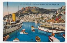 MONTE CARLO - N° 311 - LE PORT - LA CONDAMINE ET LA TETE DE CHIEN - CPA  VOYAGEE - Puerto