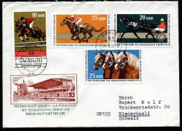 A4281) DDR Brief Pferdezucht Von Greiz 14.8.74 Mit Mi.1969-1972 In Die Schweiz - Pferde