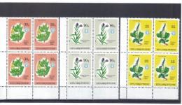 KUR127  ALBANIEN 1987  MICHL 2334/36 Postfrische VIERERBLÖCKE SIEHE ABBILDUNG - Albanien