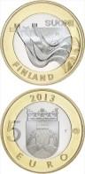 """FINLANDIA / FINLAND  5€  2.013  2013  BIMETÁLICA  SC/UNC   """"CARELIA Planta Energetica En IMATRA""""   T-DL-11.288 - Finland"""