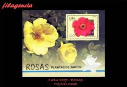 CUBA MINT. 2007-37 FLORA. ROSAS. HOJA BLOQUE - Cuba