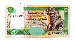 Sri Lanka - 2001 - Banconota Da 10 Rupie - Nuova -  (FDC885) - Sri Lanka