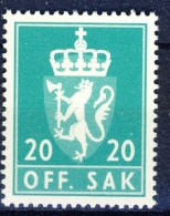 ##Norway 1982. Officials. Michel 116. MNH(**) - Servizio