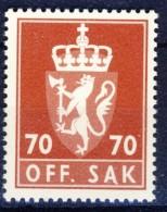#Norway 1982. Officials. Michel 117. MNH(**) - Dienstmarken