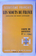 43 LE PUY  SCOUTISME  FRANCAIS CARTE DE LOUVETEAU  LE PUY  1965 AVEC UN TIMBRE - Old Paper