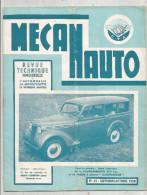 MECANAUTO , Automobiles , Motocyclette , Motorisme Agricole , 1958 , N° 45 ,palmares 57-58, 2 Scans , Frais Fr 1.75€ - Auto/Moto