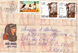 Lettre Egypte Pour La France (pa.  En 1999 ) - Poste Aérienne