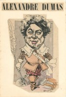 """COLLAGE ANCIEN - """"ALEXANDRE DUMAS"""" PAR BOUCHERAT - 1902 - FORMAT (21 X 30 Cm) - BELLE PIECE à ENCADRER. - Altre Collezioni"""