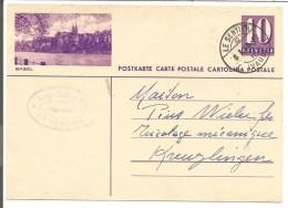 SUISSE ENTIER REPIQUAGE BASEL DE LE SENTIER DU 8/1/1940 - Stamped Stationery