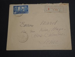 NOUVELLE CALÉDONIE - Enveloppe En Recommandé De Nouméa Pour La France En 1929 - A Voir - L  3417 - Briefe U. Dokumente