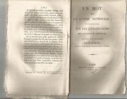 La GARDE NATIONALE , Les Attributions Des Conseils De Discipline , 1818  , 34 Pages , Frais Fr : 1.75€ - Historical Documents