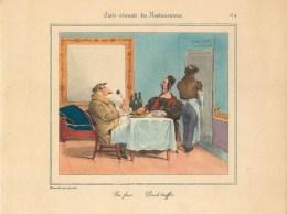 """PLANCHE D´APRES GRANVILLE - TIRAGE DES ANNEES 40- """"PORC FRAIS, DINDE TRUFFEE""""(20 X 27 Cm)- BELLE PIECE à ENCADRER - Non Classés"""