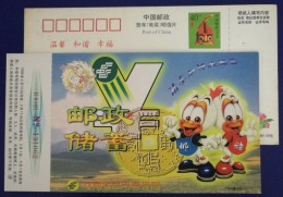 Disney Donald Duck,China 1998 Henan Post Office Saving Business Advertising Pre-stamped Card - Disney