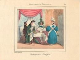 """PLANCHE D´APRES GRANVILLE - TIRAGE DES ANNEES 40- """"CORNICHON POUR DEUX"""" (20 X 27 Cm)- BELLE PIECE à ENCADRER - Non Classés"""
