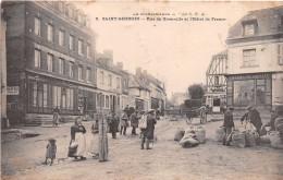 """¤¤   -  5   -  SAINT-GEORGES   -  Rue De Giverville Et L'Hôtel De France  -  Pharmacie """" GOURLIN """"  -  Marché  -  ¤¤ - Saint-Georges-Motel"""