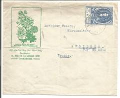 BELGIQUE LETTRE DE LINKEBEEK POUR LA FRANCE 1962 - Marcophilie
