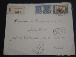 FRANCE / ALGÉRIE - Enveloppe En Recommandé Avec Accusé De Oran En 1953 Pour Paris - A Voir - L  3440 - Algeria (1924-1962)