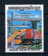 Kambodscha 1983 Eisenbahn Mi.Nr. 532 ** - Cambodge