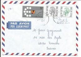 BELGIQUE LETTRE DE GROOUT-BIJOAARDEN POUR LA FRANCE 1978 - Marcophilie