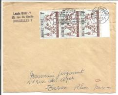 BELGIQUE LETTRE DE BRUXELLES POUR LA FRANCE 1963 - Marcophilie