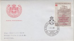 Ordini Di Malta 1981 Pro Terremotati Campania E Basilicata 1v FDC (32428) - Malta (Orde Van)