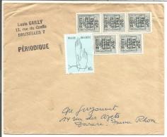 BELGIQUE LETTRE DE BRUXELLES POUR LA FRANCE 1962 - Marcophilie