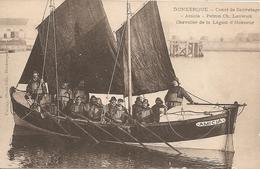 """59  Nord  : Dunkerque  Canot De Sauvetage  """" Amicia """"   Patron Ch . Lauwick Chevalier De La Légion D' Honneur  Réf  2145 - Dunkerque"""