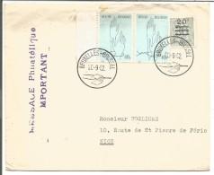 BELGIQUE LETTRE DE BRUXELLES POUR LA FRANCE 1982 - Marcophilie